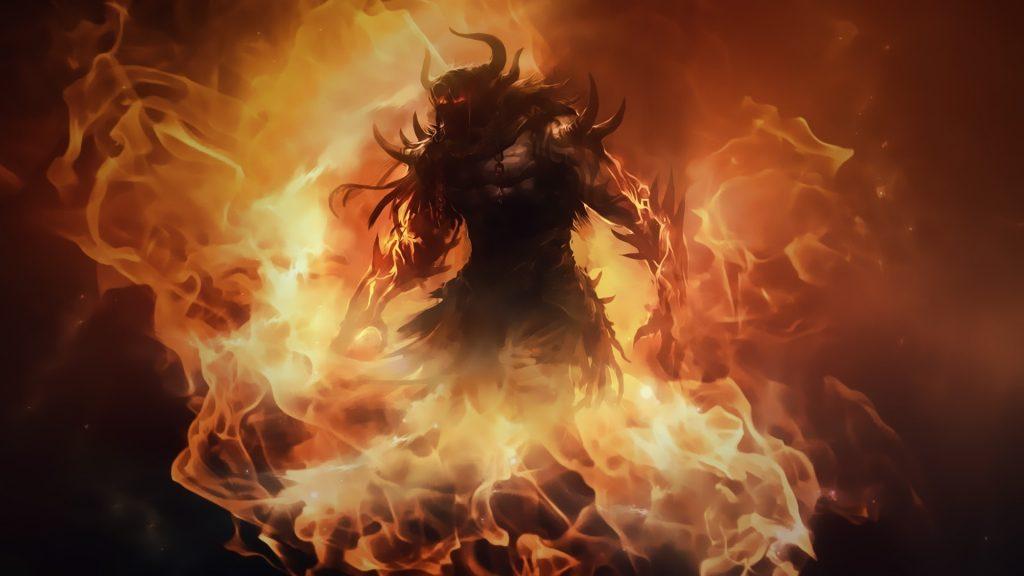 fire demon wallpapers desktop background For Desktop Wallpaper 1024x576 - Yeraltından Gelen Cehennem Sesleri ve Kola Derin Sondajı Gerçeği