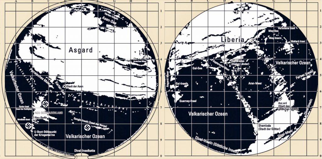 Agartha maps 1024x506 - Nazilerin Karanlık Dünyasının  13 Sırrı