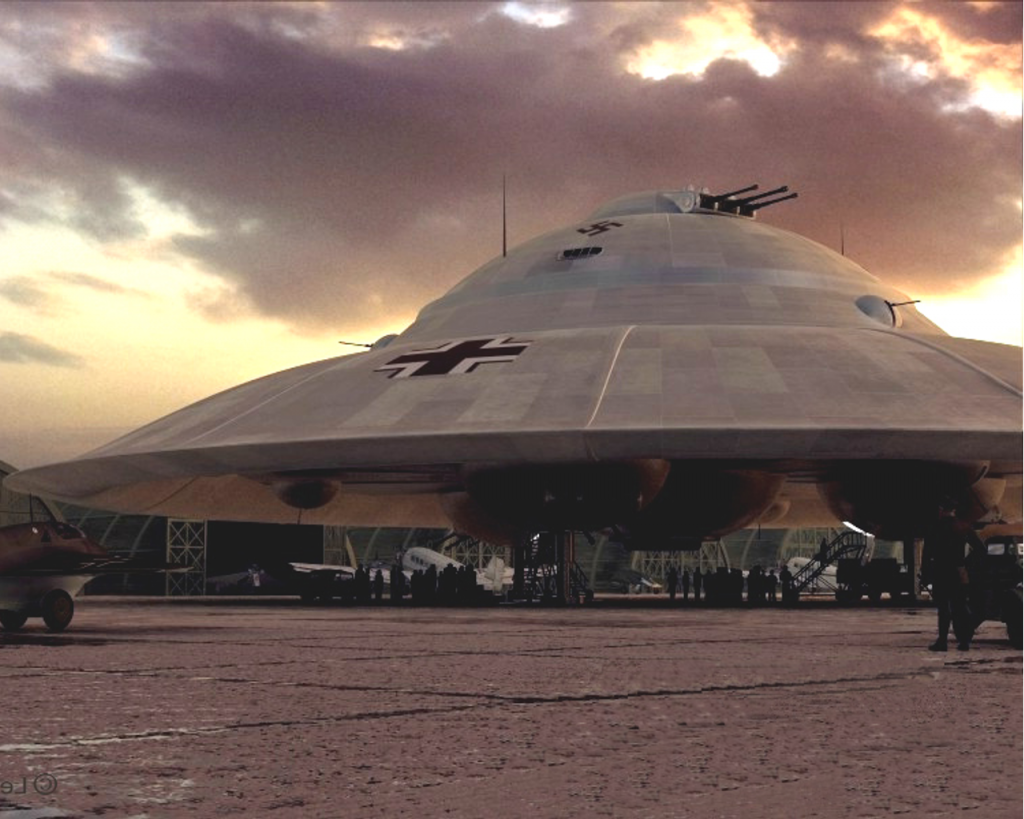 nazi ufo 1024x819 - Nazilerin Karanlık Dünyasının  13 Sırrı