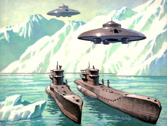 nazi ufo flying saucer 5 - Nazilerin Karanlık Dünyasının  13 Sırrı