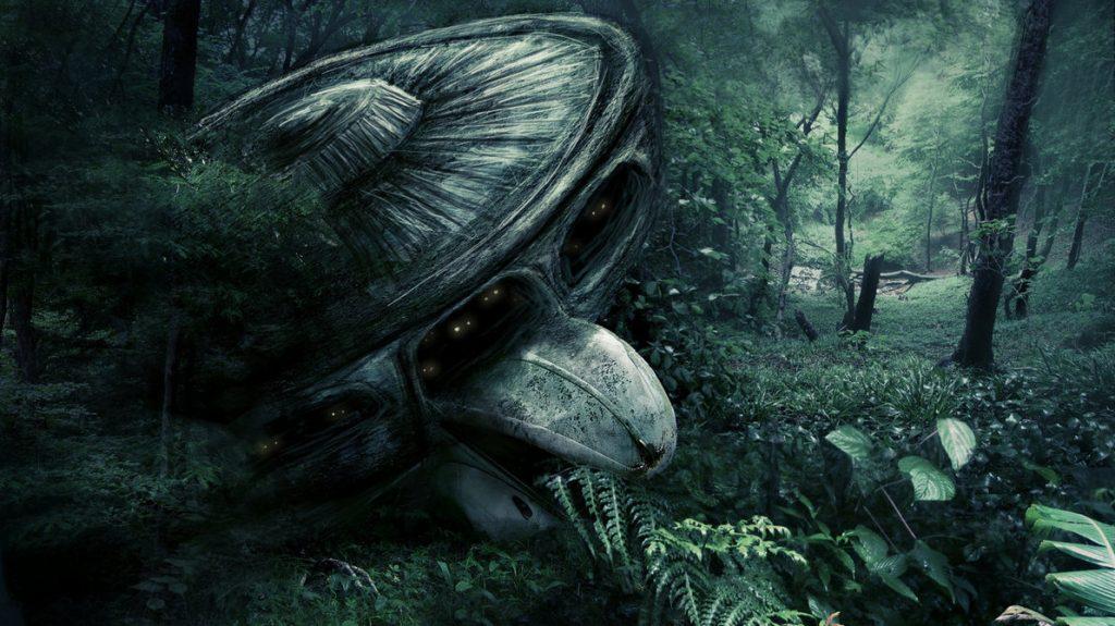 ufo forest landing by mechatwiggy 1024x575 - Nazilerin Karanlık Dünyasının  13 Sırrı