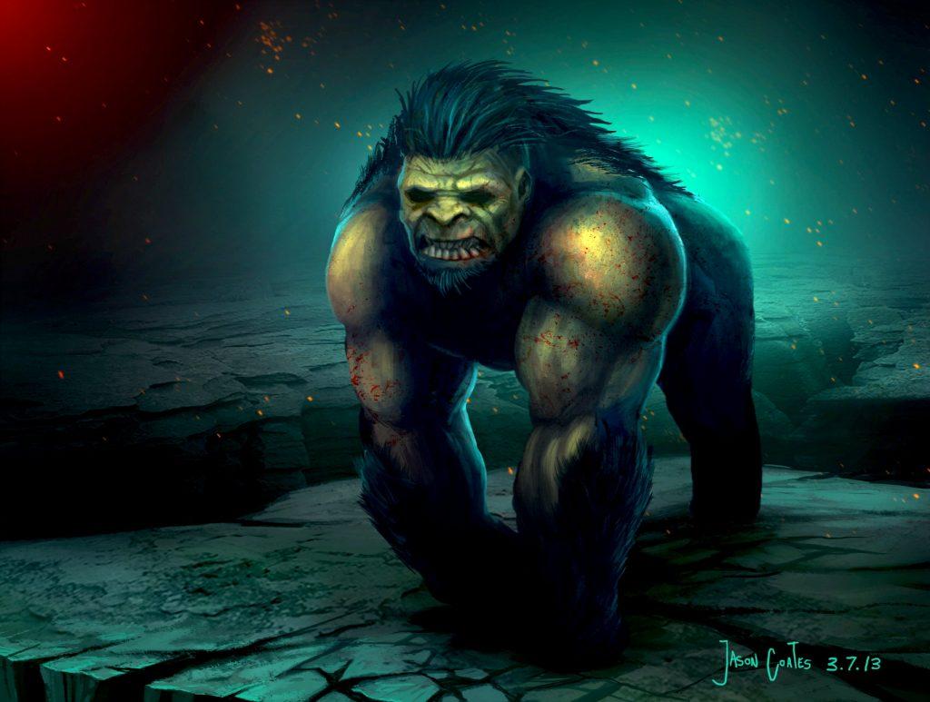 mutant gorilla beast by jason coates 3 7 13 1024x773 - Karabasan Korkusunun Gerçekleri