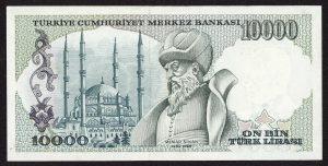 10000 Turkish Lira banknote 300x152 - Mimar Sinan'ın Kayıp Kafatası Nerede. Kayıp mı, Yoksa Bir Tarikatın Elinde Mi ?