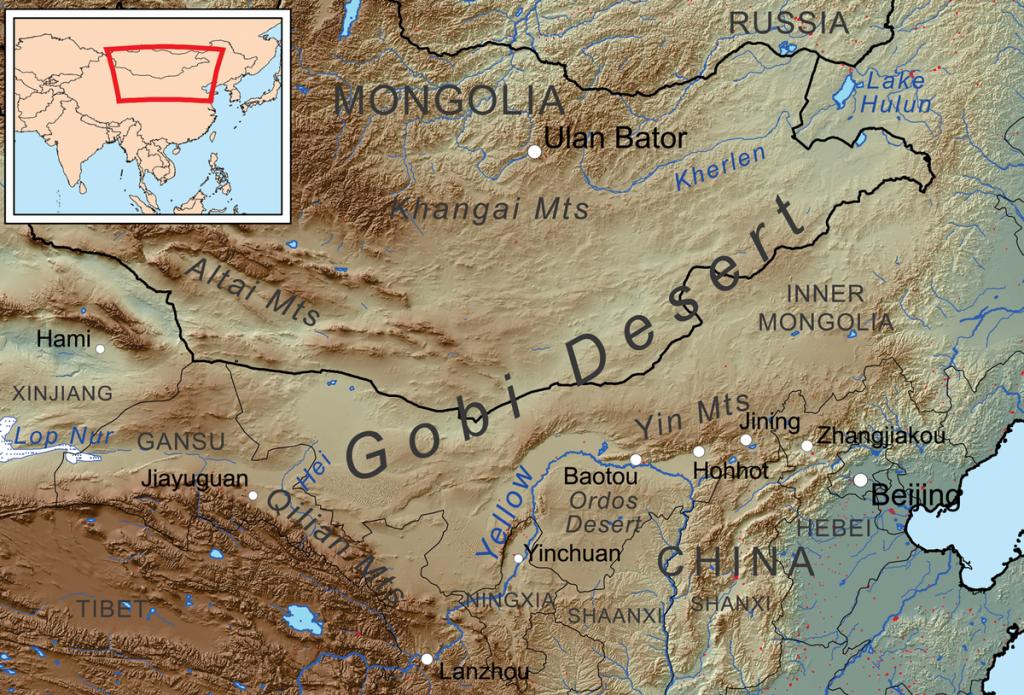 1200px Gobi desert map 1024x695 - Dev Moğol Ölüm Solucanı Gerçek mi?