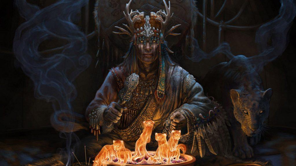 40100642 shaman wallpapers 1024x576 - Aynalar Cinler ve Ruhlar İçin Geçit Kapısı mı?