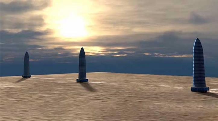 researchers spot trio of mile high towers on mars - Ay ve Mars Yüzeyinde Bulunan Dev Kulelerin  Gizemleri