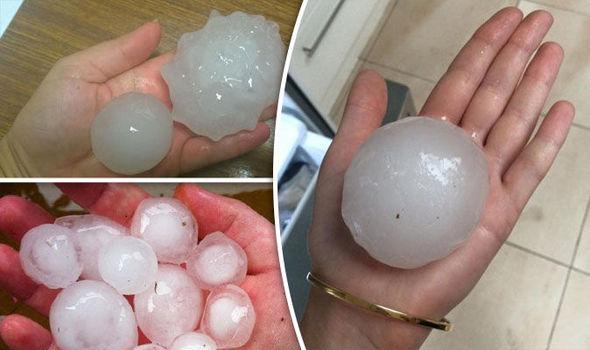Huge hailstones fell from the sky during the storm 627851 - Dünyanın En Büyük Dolu Fırtınaları