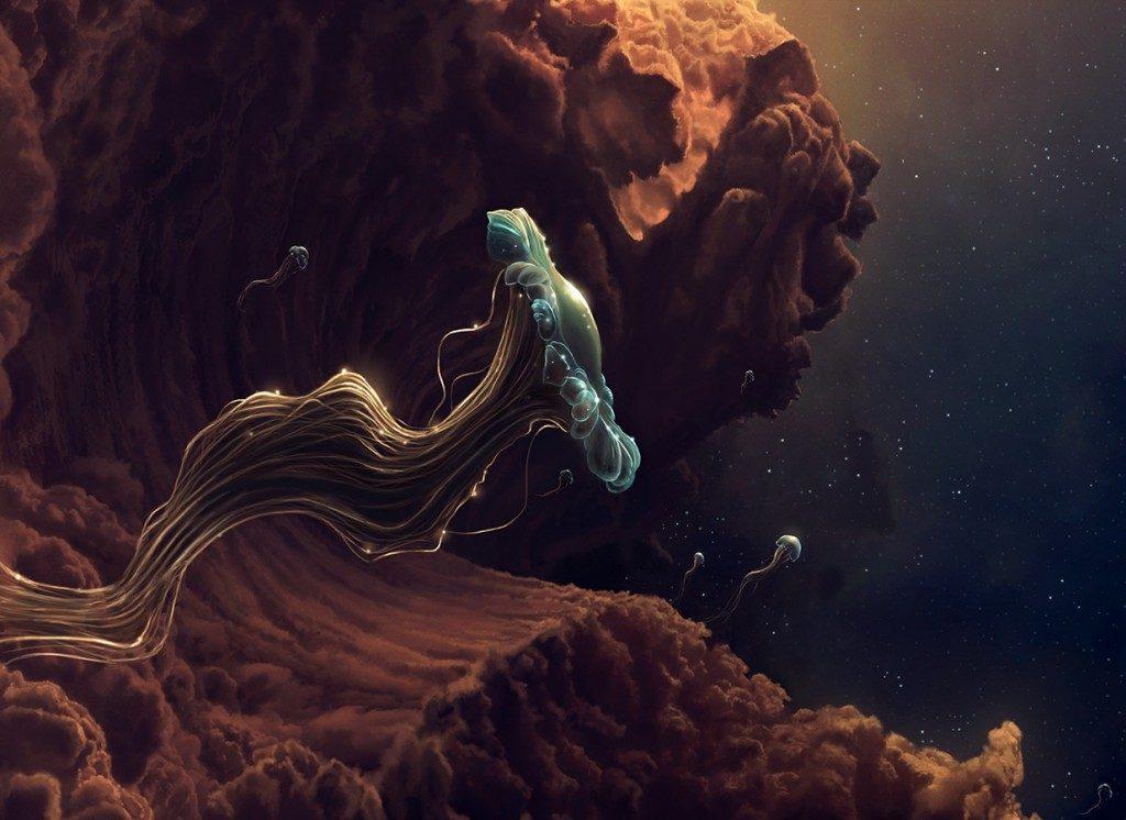 the jellyfish space travel by 1maginate d5ec8cm 1024x746 1024x746 - Bilim Adamları Açıklıyor Atmosferimizde Görünmez Varlıklar Var