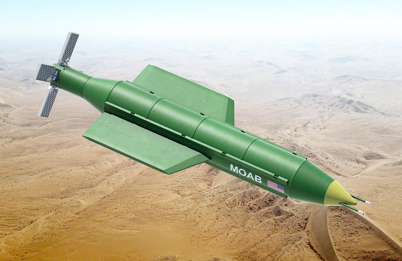 GBU 43 B MOAB bomb flight enemy target destroyed - Pentagon Afganistan'da Gizlenen Devlere Karşı MOAB Bombaları Kullanıyor Mu?