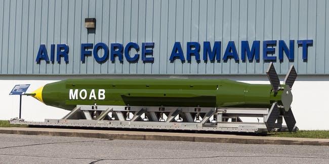 gbu 43b massive ordnance air blast quot mother of all bombs quot - Pentagon Afganistan'da Gizlenen Devlere Karşı MOAB Bombaları Kullanıyor Mu?